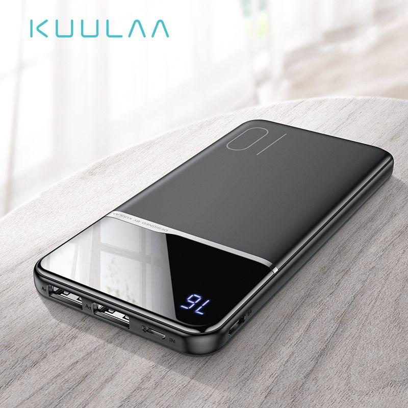 KUULAA batterie externe 10000 mAh chargeur de charge Portable 10000 mAh USB chargeur de batterie externe pour Xiao mi mi 9 8 iPhone