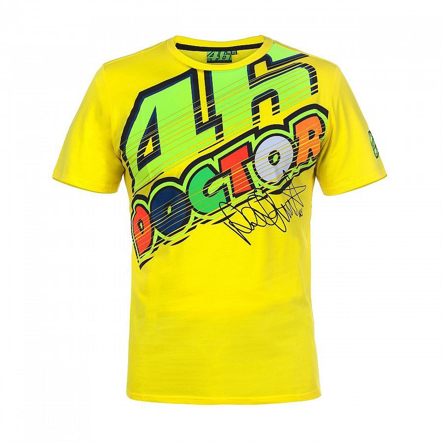 2017 VR46 Valentino Rossi T-Shirt Moto GP Motorcycle Racing 46 The Doctor Yellow Men's T-shirt