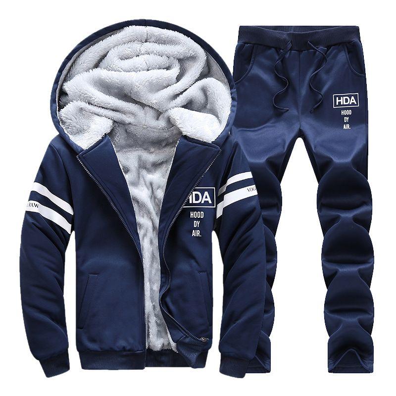 Nouveau Hoodies Hommes Sweat-Shirts Sportswear Ensemble Automne Hiver Sporting Suit Hommes Survêtements de Marque Hommes Trainingsanzug Veste + Pantalon