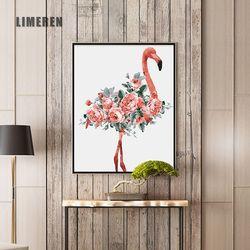 Масляная краска ing по номерам акриловые бусинки краска настенная краска ing Фламинго картина Раскраска по номерам на холсте домашний декор