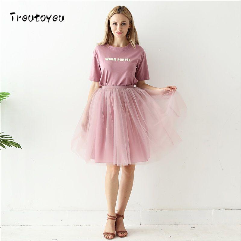 Qualité 5 couches 60 cm mode Tulle Jupe plissée TUTU jupes femmes Lolita jupon demoiselles d'honneur Jupe Midi Saias faldas