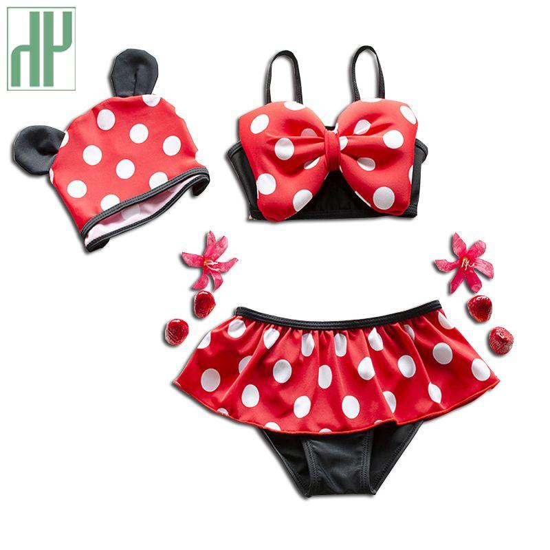 1-8Y Bébé filles maillots de bain deux pièces D'été plage bain de bébé de bain de Bébé costume enfants maillots de bain princesse Bikini infantile maillots de bain