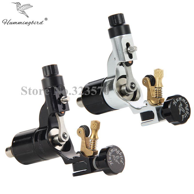 Pro 2 pcs Black&Silver Hummingbird V2 Original Swiss Motor Rotary Tattoo Machine Gun kit liner shader for cord