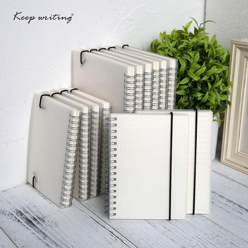 A5 A6 spirale livre bobine cahier à faire doublé point blanc grille papier Journal carnet de croquis pour fournitures scolaires papeterie magasin