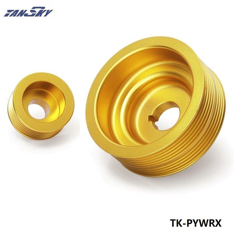 For SUBARU IMPREZA WRX 2.0 TURBO ALUMINUM LIGHTWEIGHT CRANK ENGINE PULLEY Golden TK-PYWRX