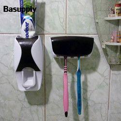 1 Unidades cepillo de dientes automático dispensador de pasta Pared Soporte exprimidor de pasta de accesorios de baño Set Dropshipping