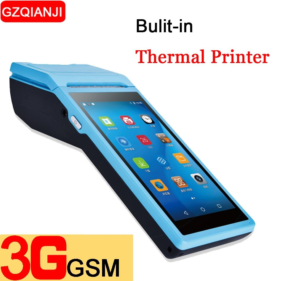 PDA Android 6.0 Mobile Handheld POS Terminal Pos Thermal Printer 58mm Wireless Bluetooth camera barcode Scanner 1D 2D Wifi PDA