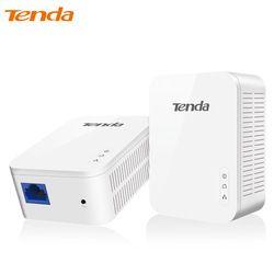Tenda PH3 1000 Mbps Powerline Réseau Adaptateur, AV1000 Ethernet PLC Adaptateur, 1 Paire Routeur Partenaire, IPTV, Homeplug AV2, UE/US Plug