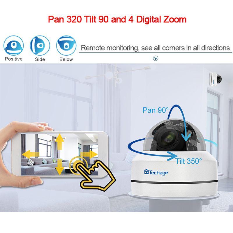 Techage 1080P 4X Zoom Objektiv PTZ POE IP Kamera H.265 Mini Speed Dome Wasserdichte 2MP CCTV Sicherheit P2P Onvif video POE Überwachung