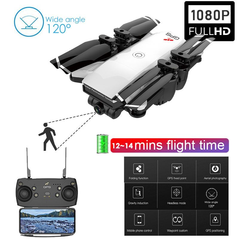 720 P/1080 P Kamera Drone Quadcopter Stabile Gimbal GPS Drone Outdoor RC Hubschrauber FPV Folgen Breite-winkel kamera