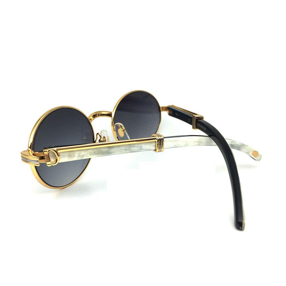 Weiß Schwarz Buffalo Horn Carter Gläser Rahmen Oval Sonnenbrille Männer Marke Designer Sonnenbrille für Männer Optische Brillen Brillen
