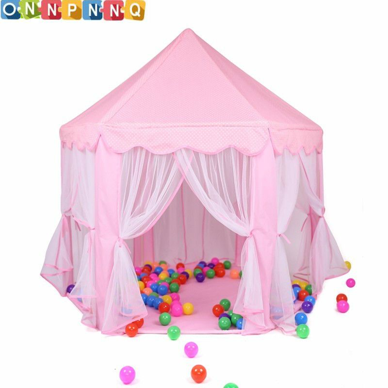 Portable Princess Castle Play Toy <font><b>Tent</b></font> Children Activity Fairy House kids Indoor Outdoor Playhouse Beach <font><b>Tent</b></font> Baby playing Toy