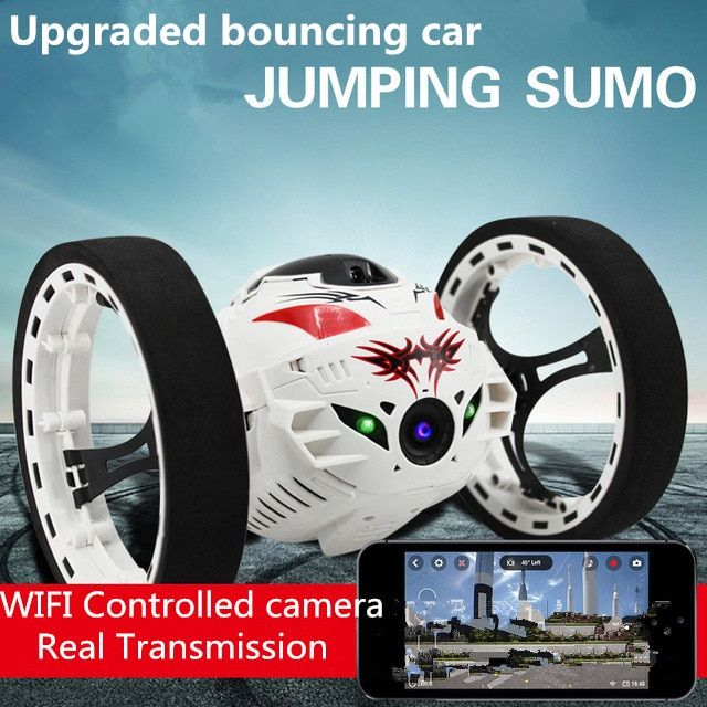 2016 Nouvelle mise à niveau Rebond Stunt RC Voiture 4CH 2.4 GHz Saut Sumo Télécommande avec WIFI Caméra App controll Rc Voiture jouets