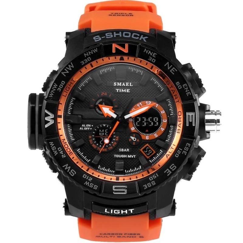 Hommes de montres de sport mâle de mode casual étanche quartz LED numérique militaire montre électronique hommes horloge relogio masculino