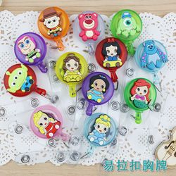 Cartoon Retractable Badge Reel High quality silicone Student Nurse Exihibiton ID Name Card Badge Holder Office Supplies