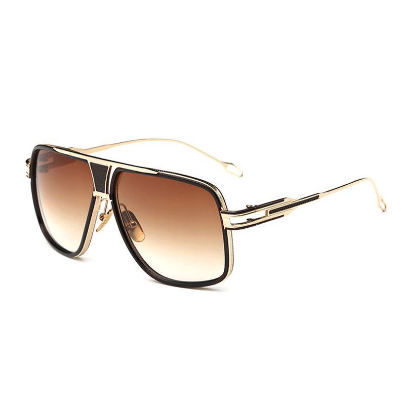 VISION carré pilote lunettes de soleil hommes conduite 2016 mâle de luxe marque lunettes de soleil pour hommes métal Designer Cool nuances miroir rétro
