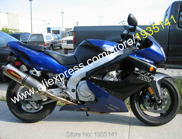 Hot Sales,For Yamaha YZF1000R ABS Parts Thunderace YZF 1000R 1997-2007 YZF1000 R 97-07 Black Blue Bodywork Motorcycle Fairing