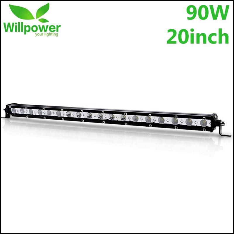 20 zoll 90 watt LED Arbeit Licht Bar Mit Cree Chips Extreme Dünne Flut Spot Strahl Auto LED Worl Lampe lampen Für Jeep Offroad Auto-Styling