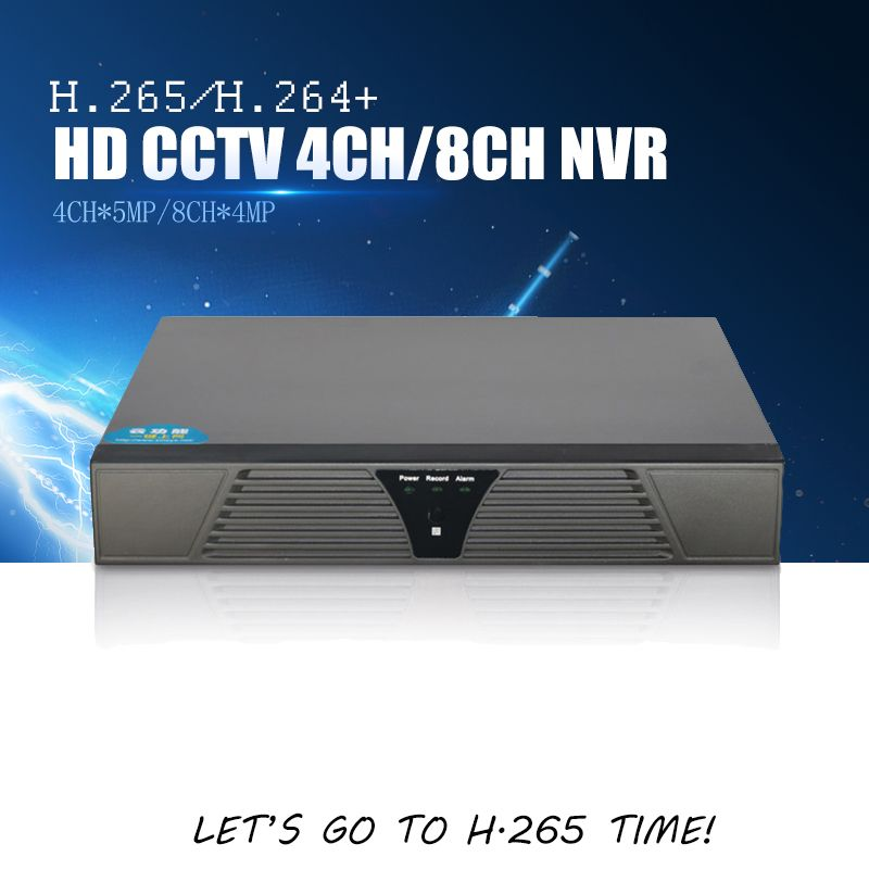 YiiSPO 4CH 5MP/8CH 4MP CCTV NVR H.265 Security Network Video Recorder Home Surveillance 4K NVR Support H265/264 IP CCTV Camera