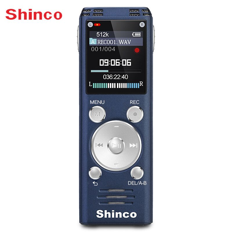 Shinco RV20 32G Lossless Voice Recorder Sound Quality Professional Remote Noise Reduction Long Distance Record Radio function