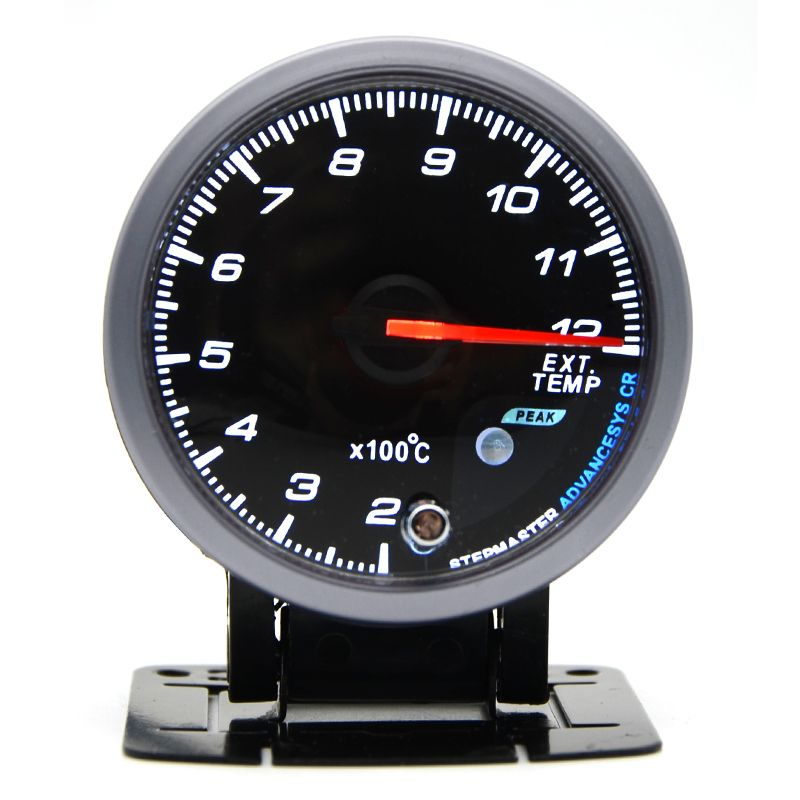 DRAGON GAUGE 60MM Exhaust Gas Temp Gauge Black Color With Sensor Dual Led Color Display EGT Gauge