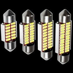 4 stücke Hohe Qualität 31mm 36mm 39mm 41mm C5W C10W 4014 LED CANBUS Auto Girlande Lichter Auto Auto-innenhaube Leselampe Lampe Weiß 12 V