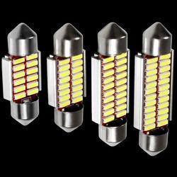 4 unids alta calidad 31mm 36mm 39mm 41mm C5W C10W 4014 LED CANbus luces del adorno del coche auto interior Dome Lámpara de lectura bombilla blanco 12 V