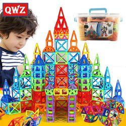 Qwz 252 Pcs Magnetic Blok Mini Magnetic Desainer Konstruksi 3D Model Magnetik Blok Mainan Pendidikan untuk Anak Anak Hadiah
