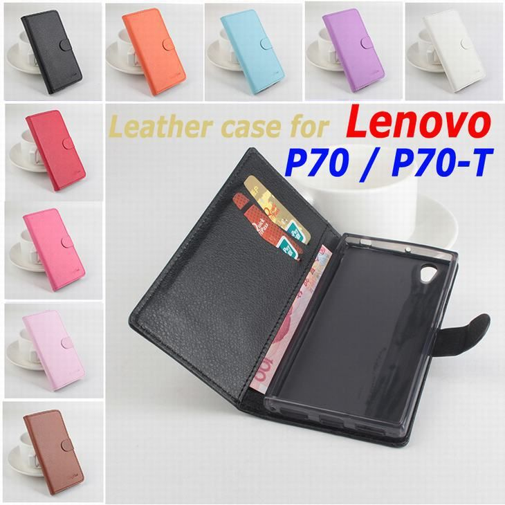 Classic Luxury Leather case For Lenovo P70 / P70-T P70T Flip Cover case housing With Card Slot LenovoP70 P 70 Phone Cover Cases