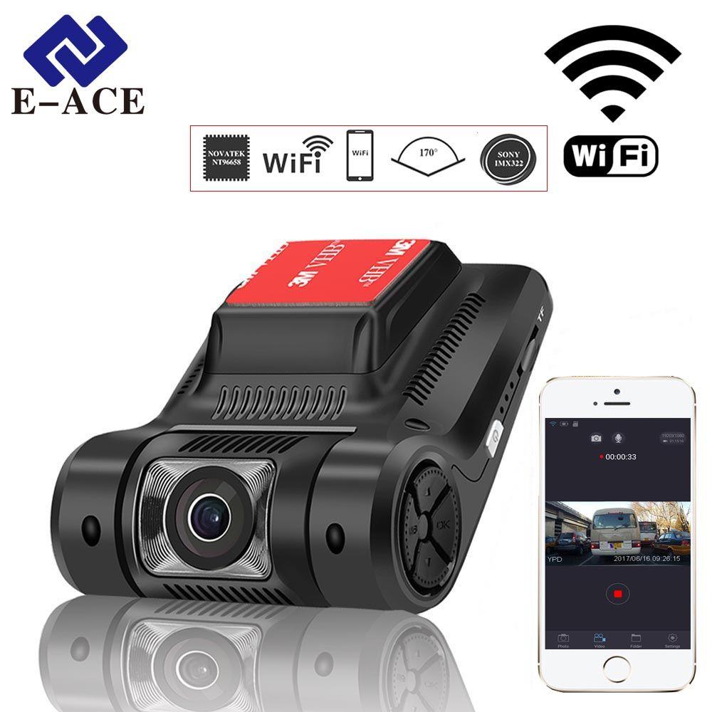 E-ACE Cachée Mini Wifi Voiture Dvr Auto Caméra Numérique Vidéo enregistreur Dashcam Novatek 96658 SONY IMX 322 FHD 1080 P Registrator dvr