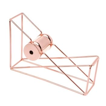 1Pc*Tape Cutter Rose Gold Hollow Tape Cutter Washi Storage Organizer Stationery Office Supplies New