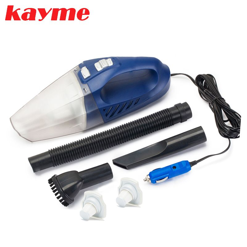 Kayme mini handheld car vacuum cleaner 80W 3000PA wet and dry auto portable dust brush for car