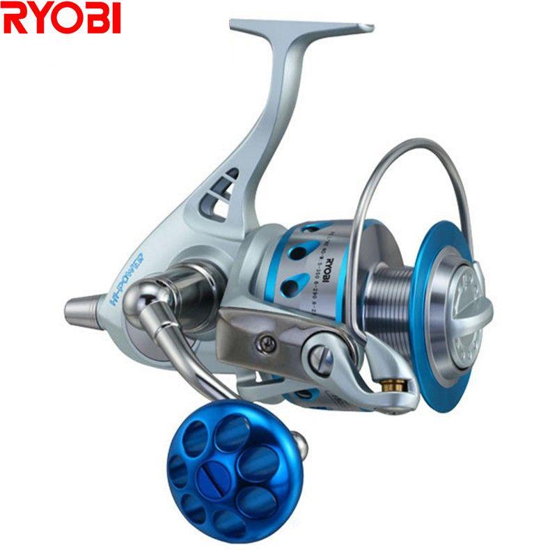 RYOBI CARNELIN18000/20000 Full Metal Spinning Angelrolle 10 + 2BB/4,4: 1 Ozean Boot Spule Carretilha De Pesca Moulinet Peche Rollen