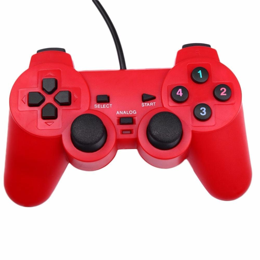 Gasky New Vibration USB Wired ABS Game Controller Gamepad Joystick For Windows PC Video Game Console Gaming Kid Boy Gamer Gift