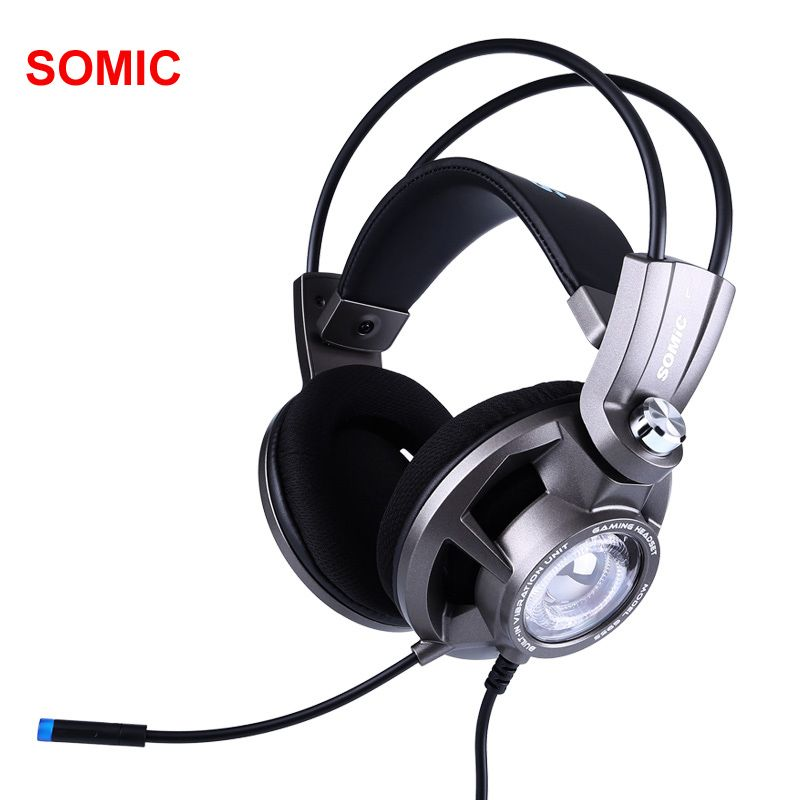 Somic G955 USB 7.1 Gaming Headset Headphones with Microphone Noise Cancelling Stereo Bass Vibration headband for PC PS4 Gamer