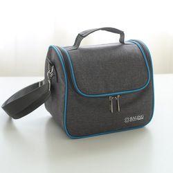 Сумка для ланча Новая мода высокого качества серо-синяя Минималистичная термо-еда изолированная сумка Повседневная дорожная Тепловая сумк...