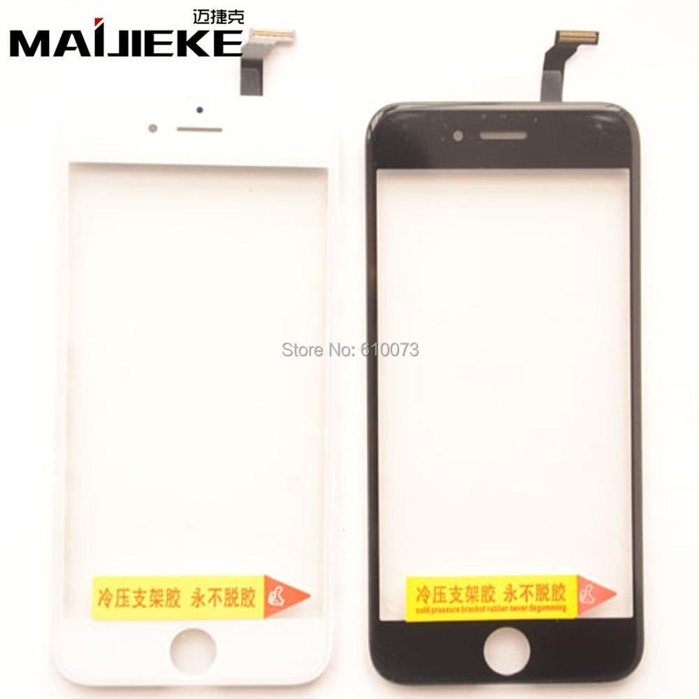 6 STÜCKE Kaltpressung 2 in 1 Digitizer mit Rahmen Für iPhone 6/6 plus Bildschirm Touch mit Rahmen Lünette Montage Ersatz Schwarz Weiß