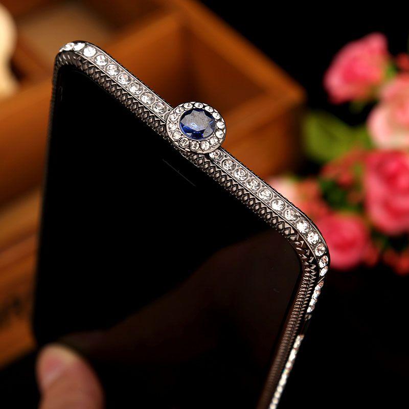 Alabasta Luxury Diamond Bumper For iPhone 6 6s 7 8 plus 8P Case Metal Rhinestone Bling Glitter Frame Back Cover Coque Case Capa