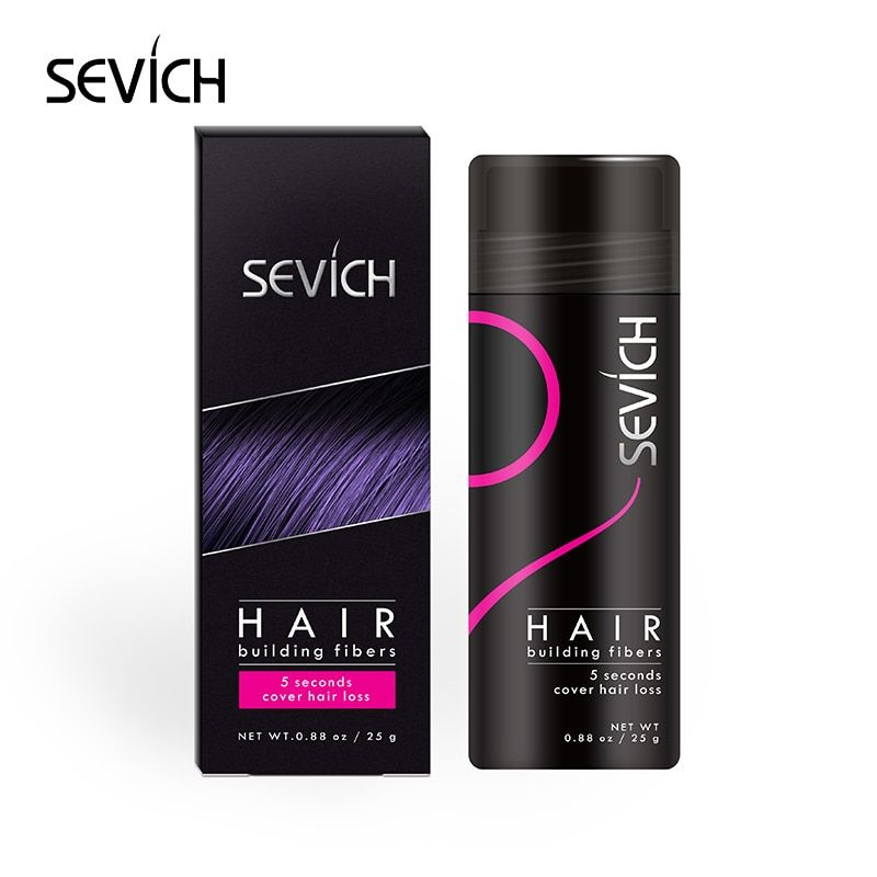 25g Refill SEVICH Keratin Hair Building Fiber Style Hair Loss Concealer Fully Fiber Hair Powder Wax Dye Wigs Extension 10Colors