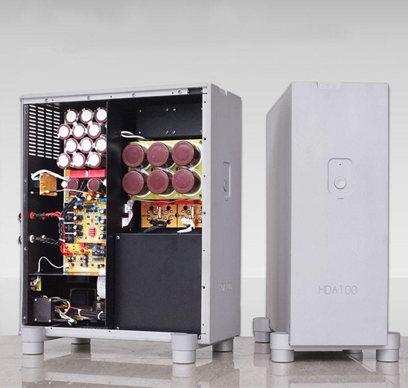 N-008 HDA100 HiFI Mono Power Verstärker Stoßdämpfer Design von Vertikale Version 1000 watt * 2