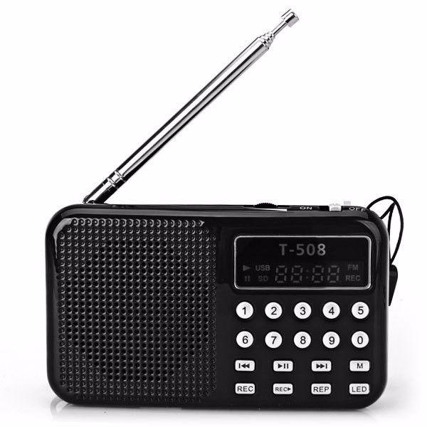 REDAMIGO vente Chaude LCD Affichage Internet Radio Numérique fm radio Micro SD/TF USB Disque mp3 radio avec haut-parleur RADT508