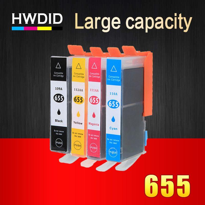 Imprimante Cartouches D'encre avec Puce pour HP 655 compatible pour HP deskjet 3525 5525 4615 4625 4525 6520 6525 6625 pour hp655 CZ109AE
