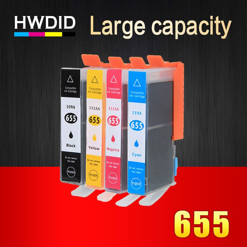 Printer Ink Cartridges with <font><b>Chip</b></font> for HP 655 compatible for HP deskjet 3525 5525 4615 4625 4525 6520 6525 6625 for hp655 CZ109AE