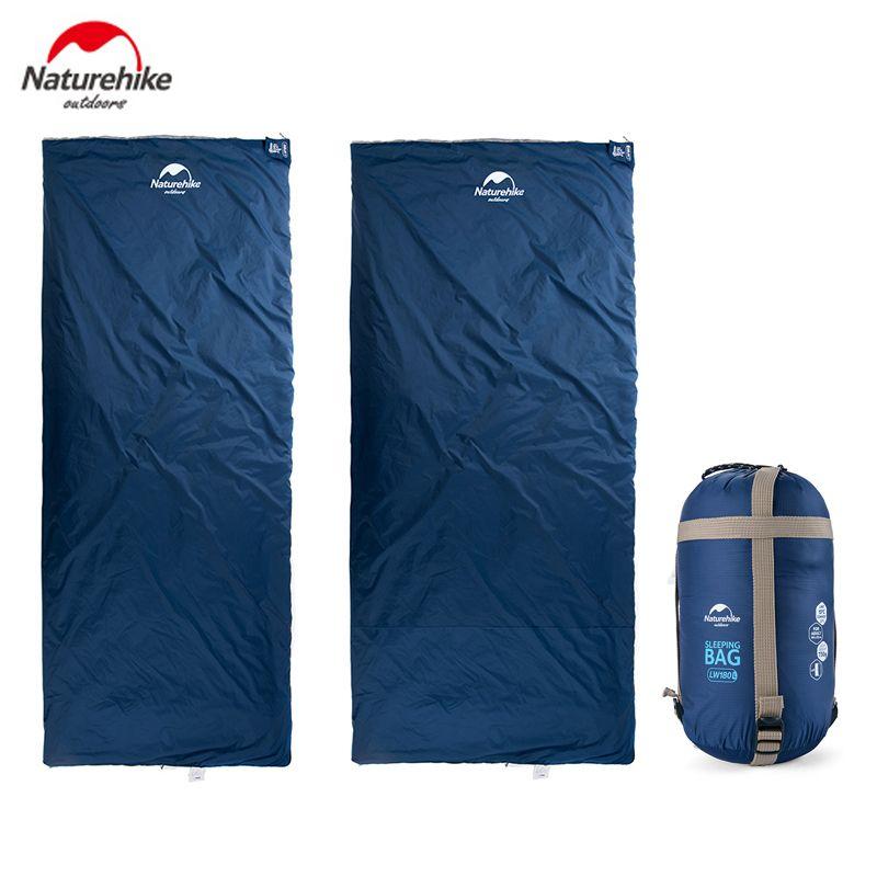 Naturehike Outdoor Envelope Sleeping Bag 190*75/85cm Camping Hiking Spring Autumn Sleeping Bag only 680g