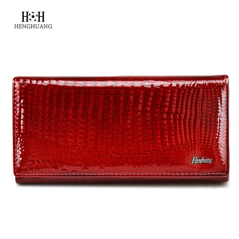 HH Brand Alligator Womens Wallets Genuine Leather Ladies <font><b>Clutch</b></font> Coin Purses Hasp Luxury Patent Crocodile Female Long Wallet