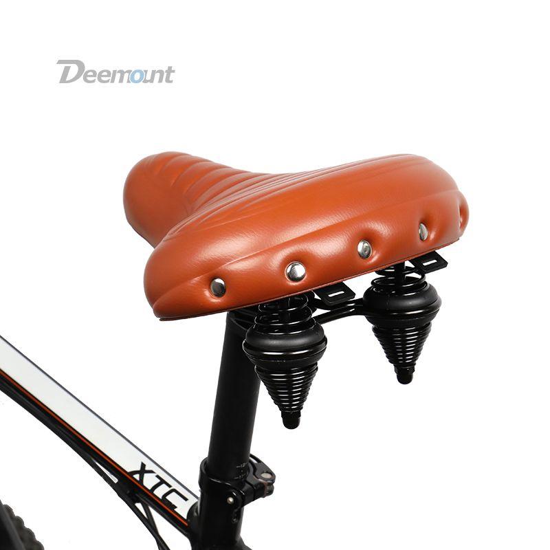 Deemount Bicycle Saddle Heavy Duty Streamlined Seat MTB Mountain Bike Silicone Gel Foam Cushion Shock Absorption Cycle Trunk