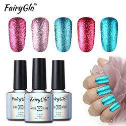 FairyGlo 10 ML Bling Gel Polonais UV Soak OFF Glitter Gel Vernis À Ongles Peinture Gellak Hybride Vernis Semi Permanent Chanceux laque