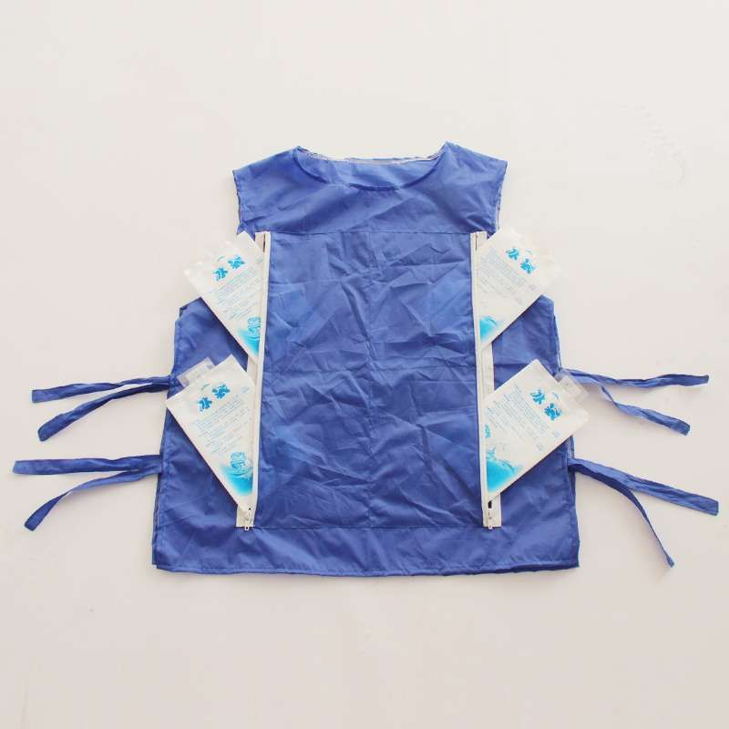 High temperature protective clothing chill vest summer cooling vest can be installed ice pack cooling for the mascot costume