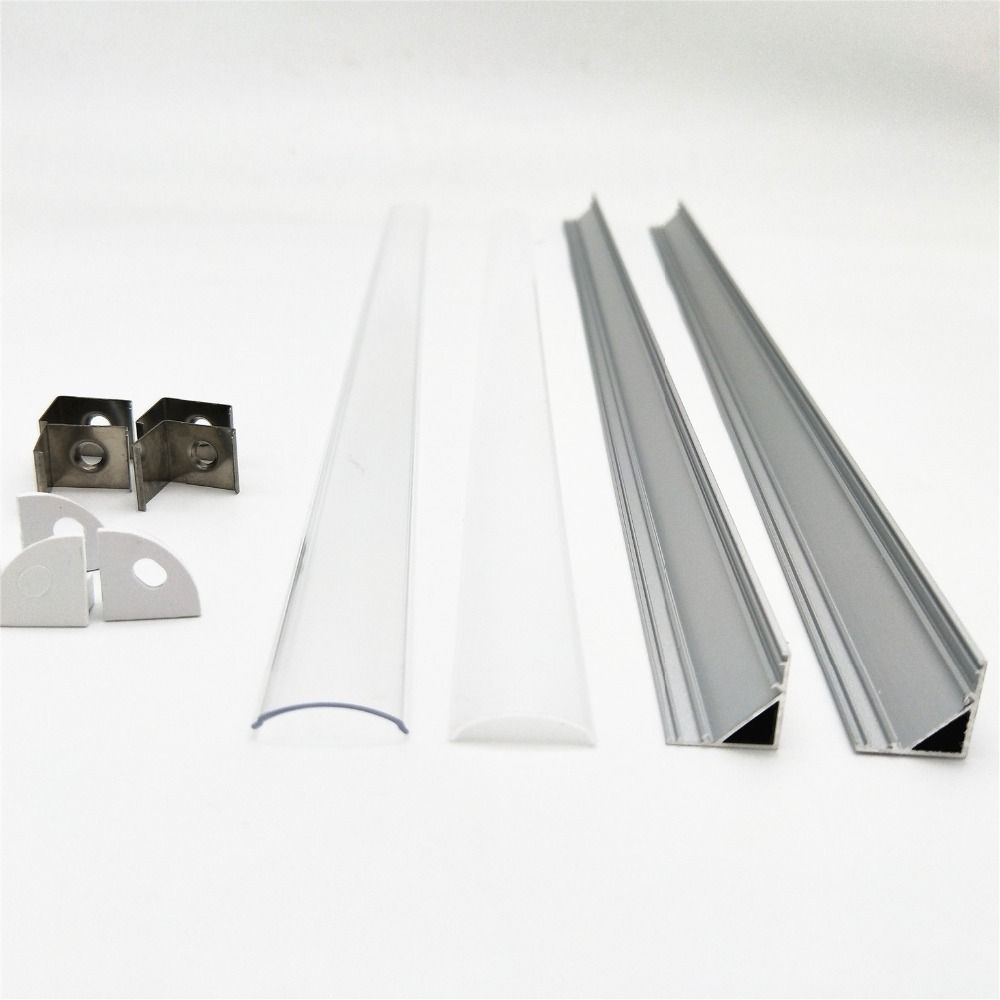 10M-100M M/3.3ft V-Shape LED Aluminum Channel System +PC Cover, Complete Mounting Accessories,Suit 3528, 5050 & 5630 Strip Light
