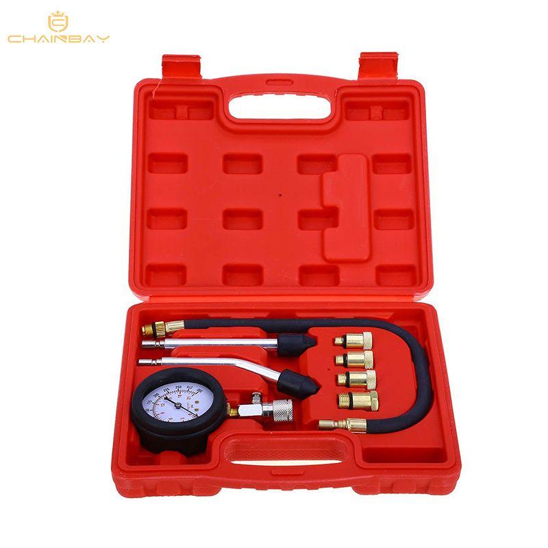 New Petrol Engine Cylinder Compressor Gauge Meter Test Pressure Compression Tester Leakage Diagnostic/ Diagnosis Tool Set